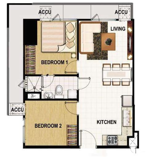2 bedroom unit floor plans smdc princeton residences condominium philippines