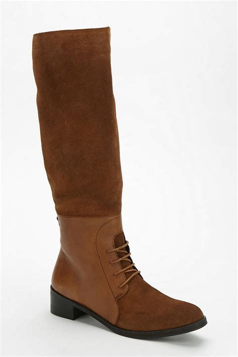 outfitters boots lyst outfitters ecote laceup equestrian boot in brown