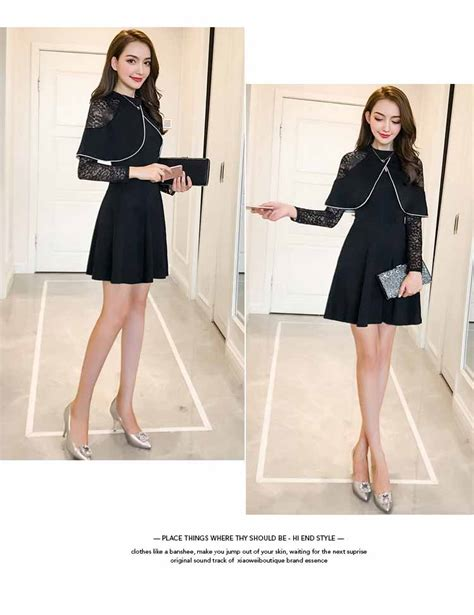 Minidress Jeslyn Ready 4 Warna dress warna hitam brukat lengan panjang myrosefashion