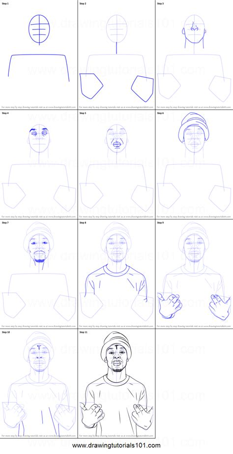 Drawing 21 Savage by How To Draw 21 Savage Printable Step By Step Drawing Sheet