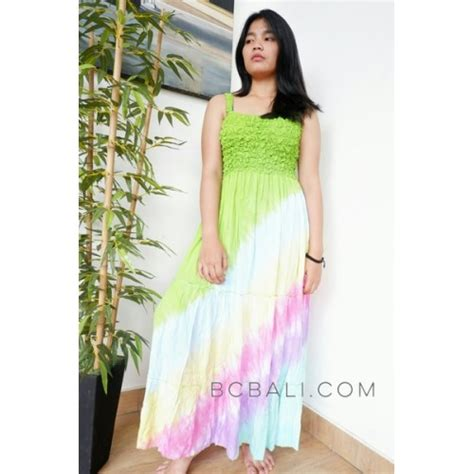Dress Batik Handmade dress bali batik printing rainbow handmade