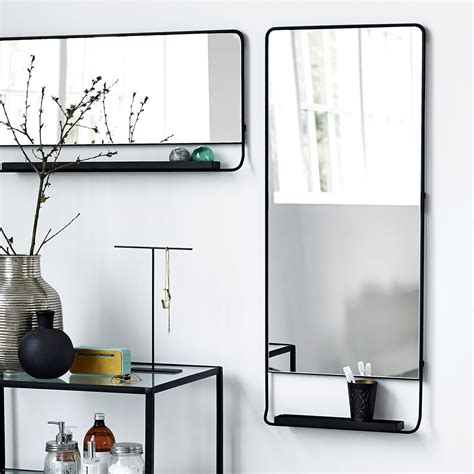 house doctor horizontal chic black framed mirror with