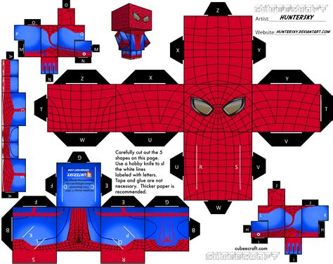 Spider Papercraft - the amazing papercraft web wanderers