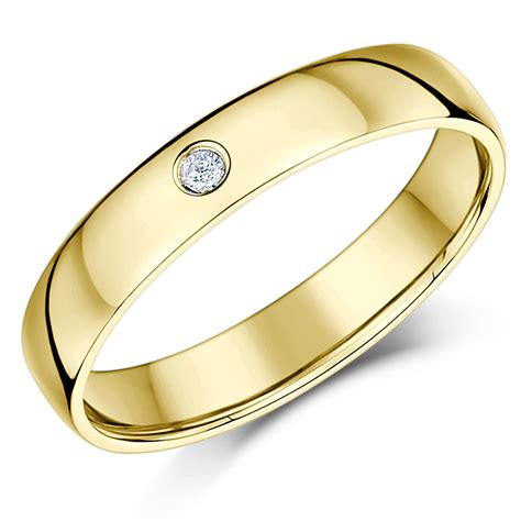 Ring 4mm 4mm 9 carat heavy yellow gold wedding ring band yellow gold at elma uk jewellery
