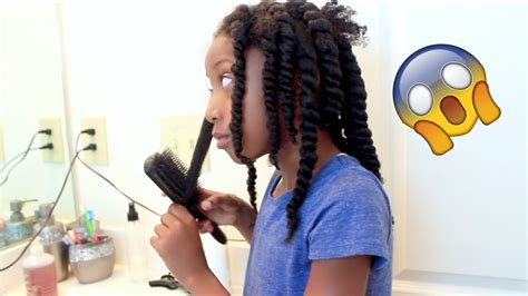 healthy hair fir 7 yr 7 year old styles her own hair little girls natural hair