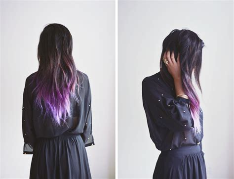 what purple hair dip dyed with black looks like purple dip dye dip dye colorful hair dye we know