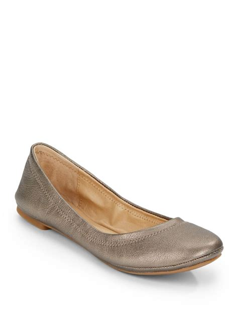 leather ballet flats lucky brand elysia metallic leather ballet flats in