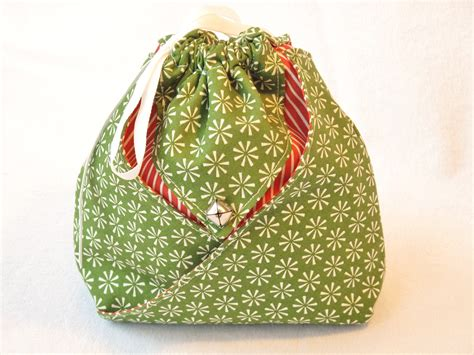 Fabric Origami Bag - origami fabric gift bag green snowflake wrap it up