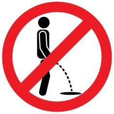 no urinating here – instickate