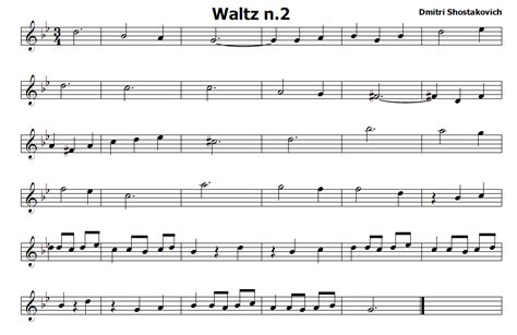 valzer delle candele inglese musica e spartiti gratis per flauto dolce waltz n 2 di