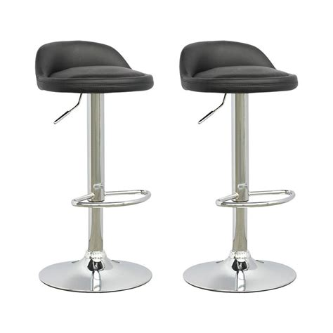 low bar stool chairs corliving low profile adjustable bar stool set of 2