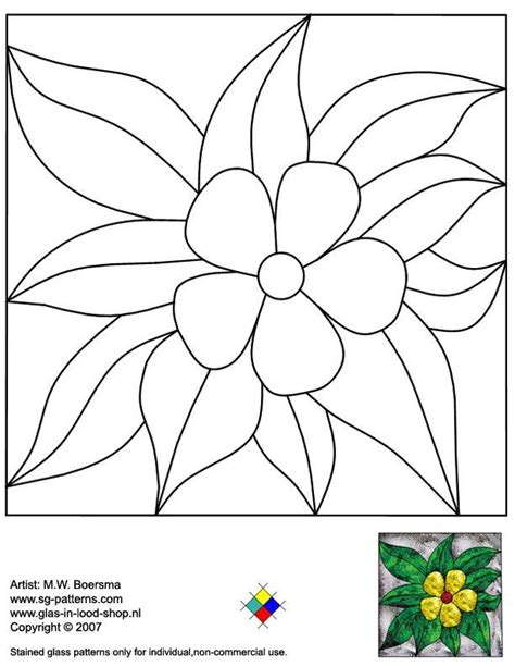 flower pattern glass 2020 best stained glass patterns images on pinterest
