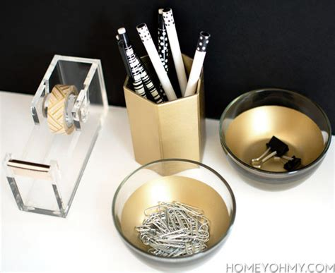 Diy Gold Desk Dishes Gold Desk Accessories