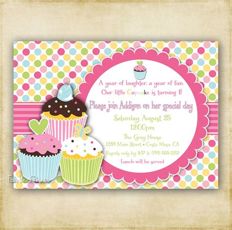 layout for invitation to birthday cupcake birthday invitations cupcake birthday invitations