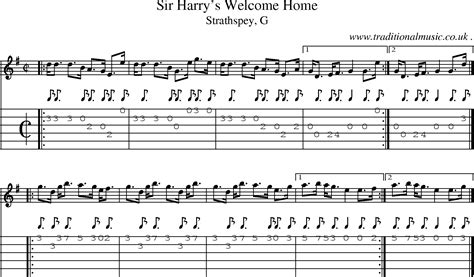 scottish tune sheetmusic midi mp3 guitar chords tabs