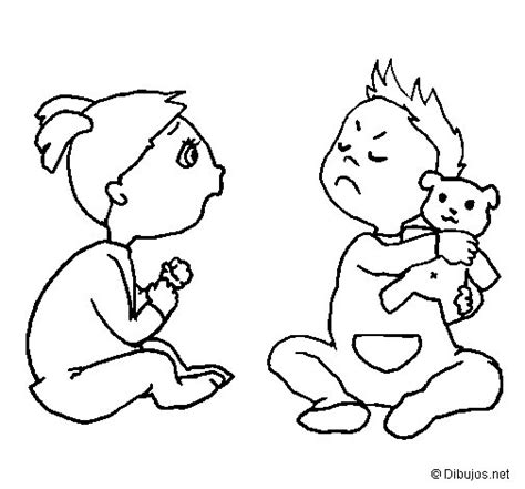 dibujos de nios peleando para colorear dibujo de hermanos para colorear dibujos net