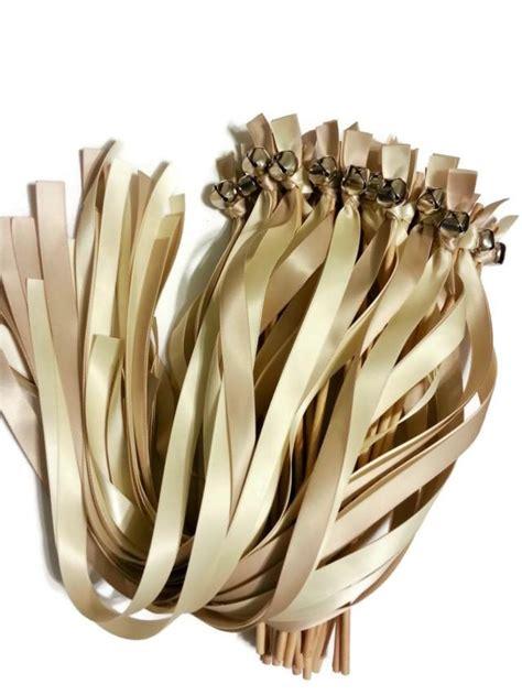 Wedding Bell Ribbon Wands by 100 Ribbon Bell Wands Divinity Braid Send Bells