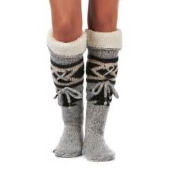 Sleeper Socks by Superdry Navajo Slipper Sock Slippers Grey Marl Free Uk Delivery
