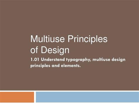 design elements and principles ppt ppt 1 01 understand typography multiuse design