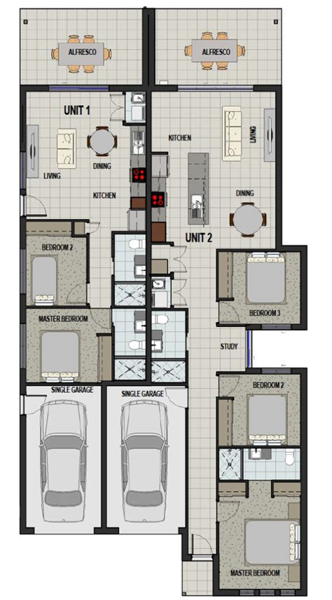 dual occupancy floor plans duplex designs dual occupancy homes