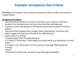acceptance criteria template project acceptance criteria template ebook database
