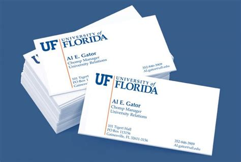 Uf Business Card Template by Brand Center Information On Our Image Identity