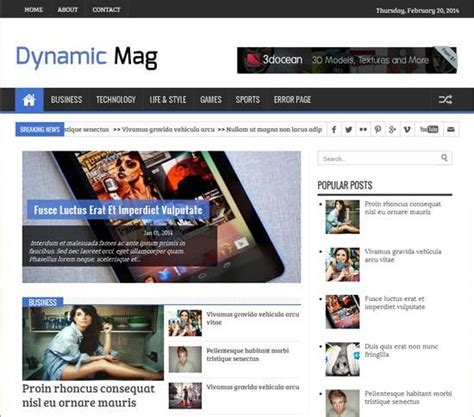 25 Best Free Responsive Blogger Templates Dynamic Responsive Website Templates Free