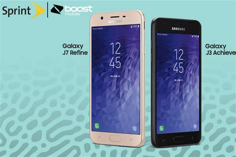 samsung galaxy j7 refine j3 achieve released by sprint and boost mobile