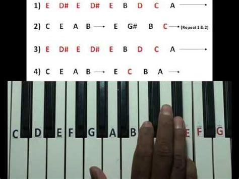 tutorial piano fur elise virtual piano fur elise tutorial