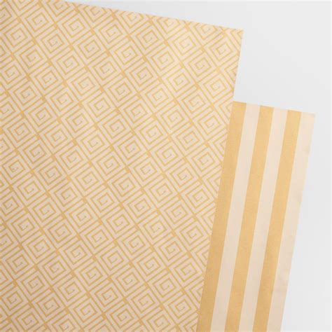 Printing On Craft Paper - reversible printed kraft wrapping paper rolls 2 pack