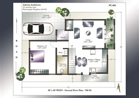 west facing house plans 30 x 40 house plans 30 x 40 west facing house plans