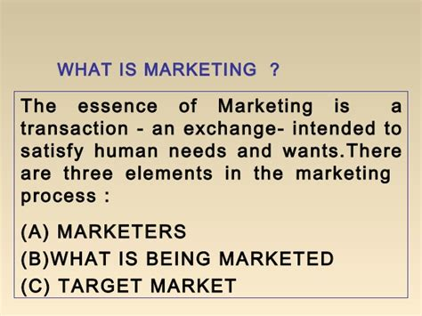 What Is Marketing Management In Mba by Mba I Mm 1 U 1 4 Introduction To Marketing