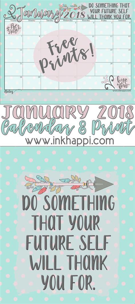 2018 printable calendar for imom