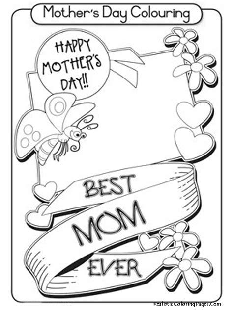 happy mothers day coloring page happy mothers day coloring pages realistic coloring pages