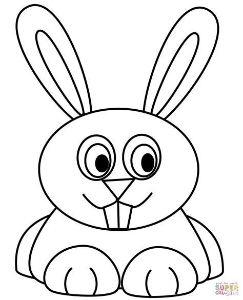 cartoon rabbit coloring page conejo para colorear www imgkid com the image kid has it