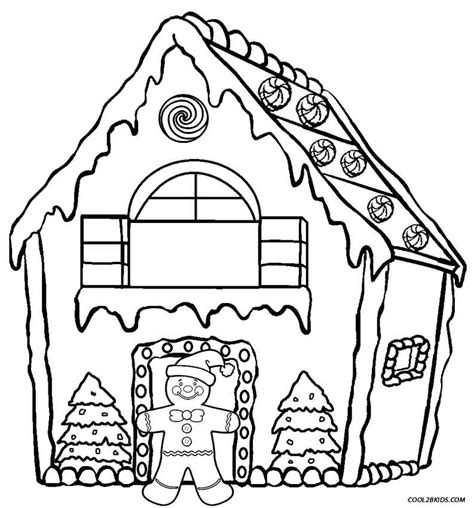 gingerbread house coloring sheet coloring pages