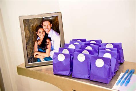 bridal shower favor ideas purple purple themed bridal shower bridalguide