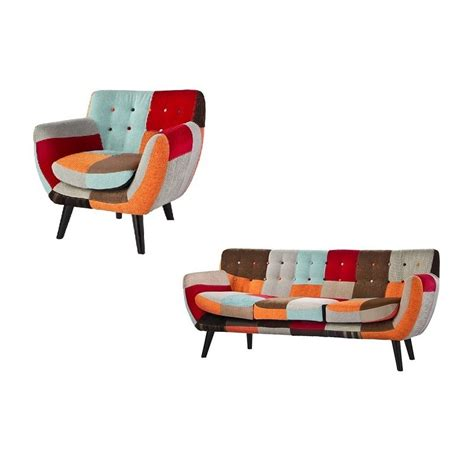 red fabric armchair red patchwork fabric armchair sofas