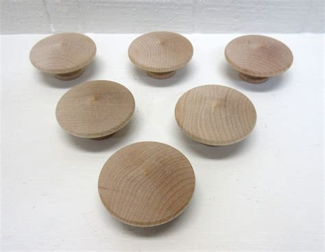 Wood Knobs by Wood Knobs New And Unfinished 2 Inch Wooden Door Knob