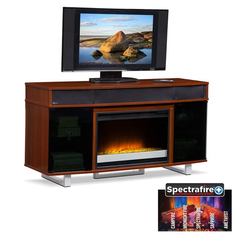 renzo bar cabinet american signature furniture pacer 56 quot contemporary fireplace tv stand with sound bar