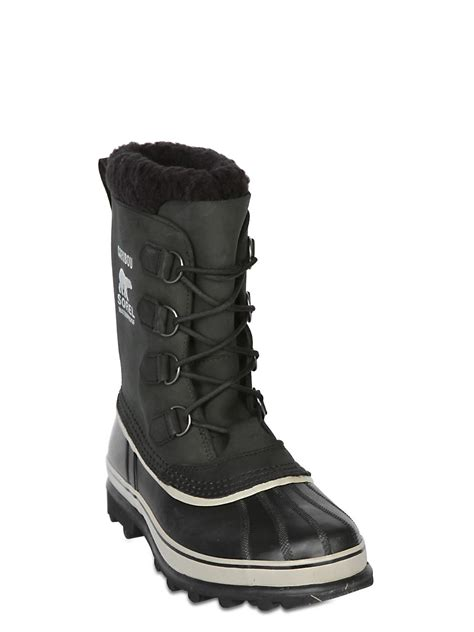 sorel quot caribou quot waterproof nubuck boots in black for