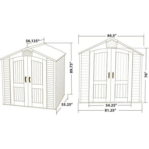 Lifetime Shed 60057 by Lifetime 60057 Plastic Storage Shed Outdoor Building 7 Ft