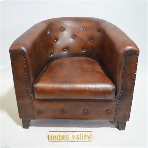 aged brown leather aged leather brown room armchair