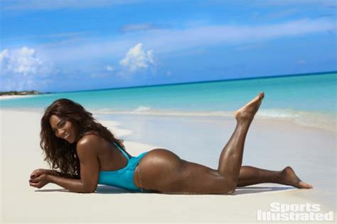 serena williams poses topless for sports illustrated