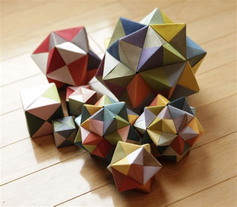 Modular Origami Icosahedron - modular origami icosahedron octahedron cube 171 math craft