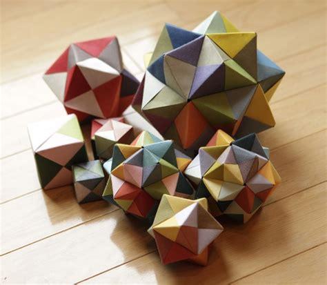 Advanced Modular Origami - modular origami icosahedron octahedron cube 171 math