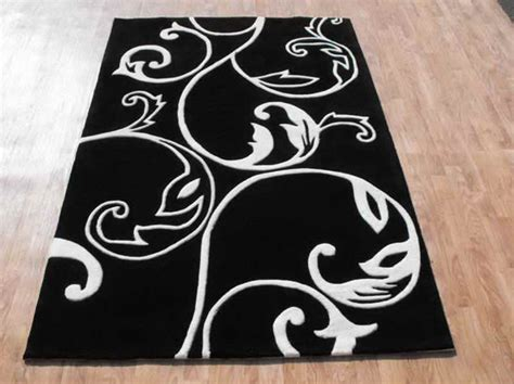 black and white rugs timeless theme of room decoration with white and black