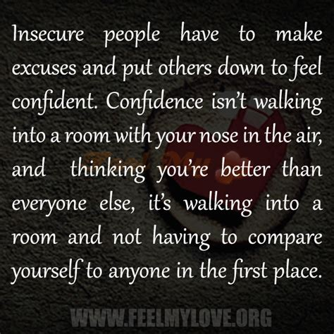how to walk into a room with confidence quotes about and insecurity quotesgram