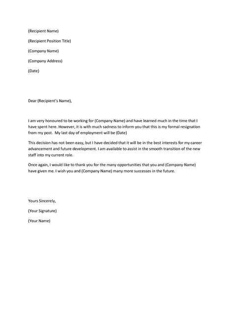 Resignation Letter Kitchen Staff Notice Letter To Employer Letters Free Sle Letters