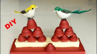How To Make Showpiece With Paper - sparrow showpiece paper quilling showpiece diy home